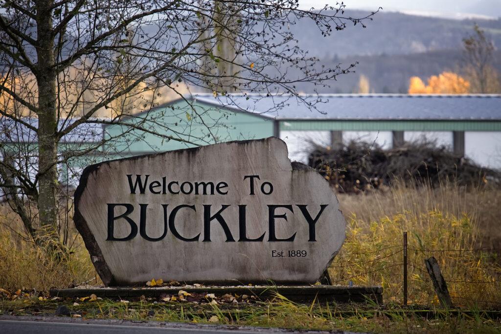 Buckley Welcome Sign